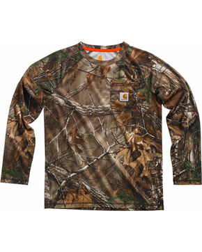 Carhartt Boys' Camo Force Performance Raglan Pocket Tee , Camouflage, hi-res