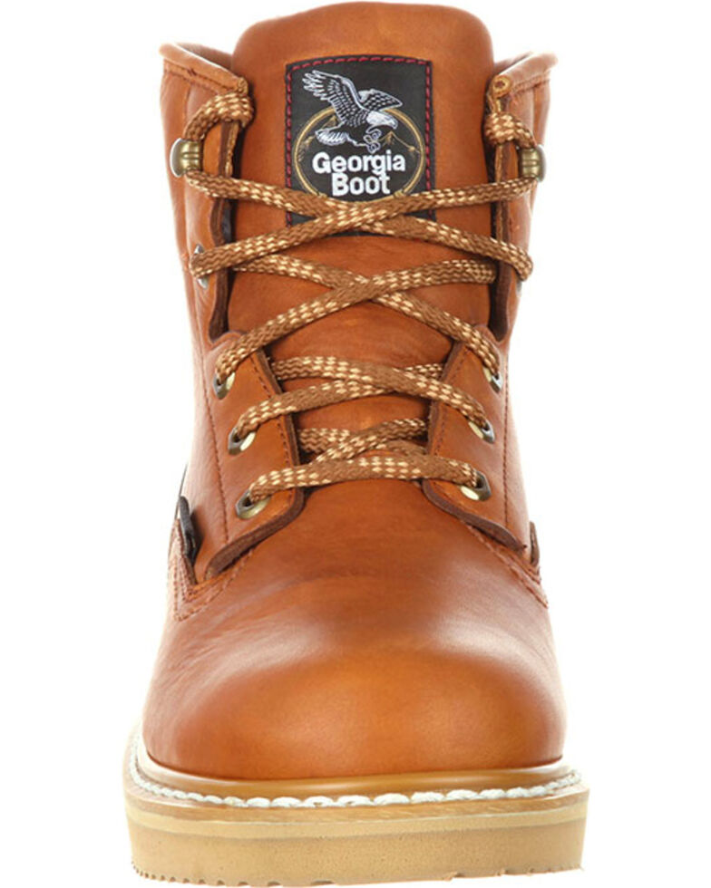Georgia Boot Men's Waterproof Wedge Work Boots, Brown, hi-res