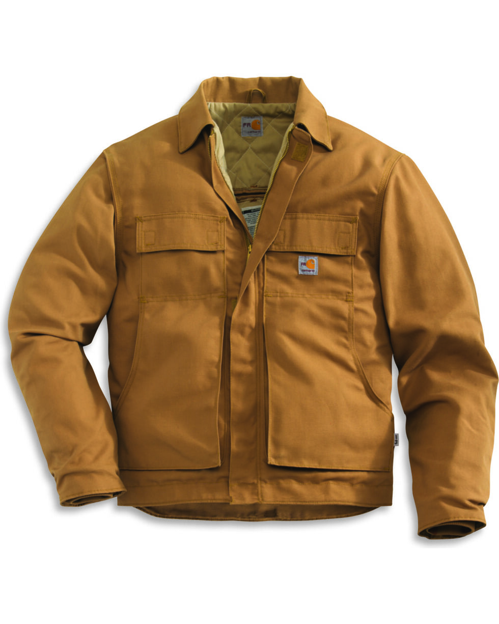 Carhartt Flame-Resistant Lanyard Access Quilt-Lined Jacket - Big & Tall, Carhartt Brown, hi-res