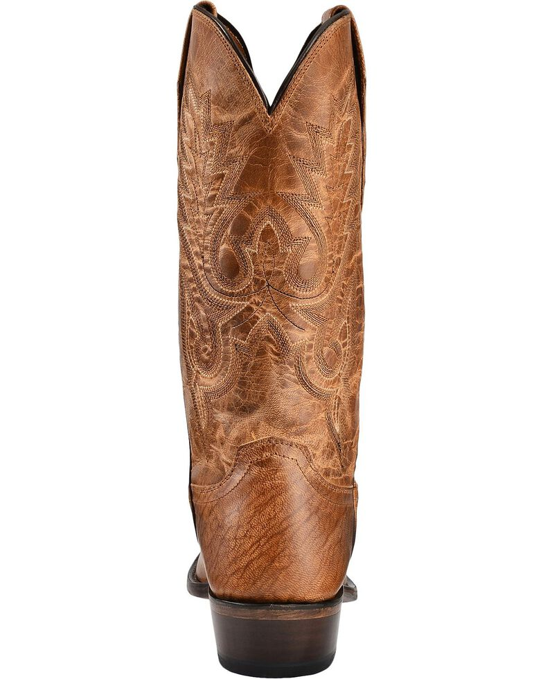 Lucchese Handmade 1883 Mad Dog Goatskin Cowboy Boots - Square Toe, Tan, hi-res