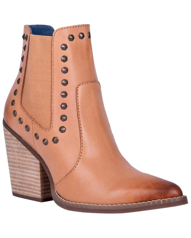 Dingo Women's Stay Sassy Fashion Booties - Round Toe, Tan, hi-res