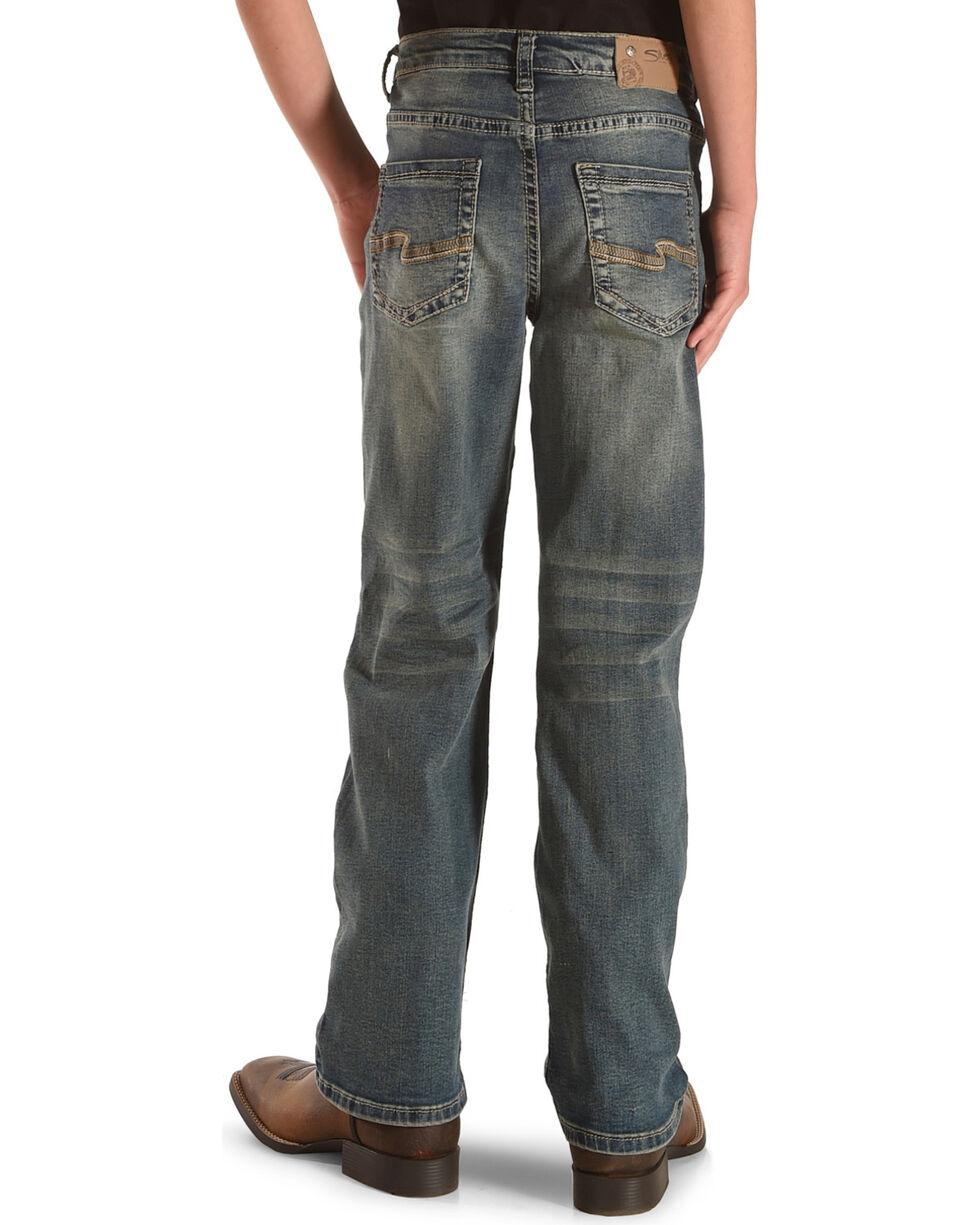 Silver Boys' Garret Medium Wash Loose Fit Jeans - Straight Leg, Indigo, hi-res