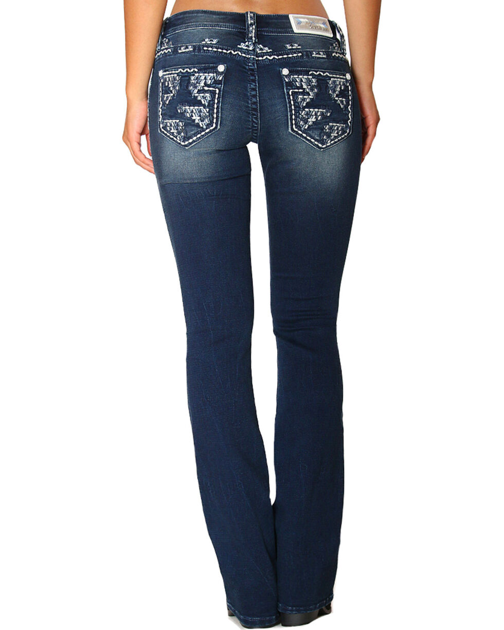 Grace in LA Women's Embroidered Easy Fit Jeans - Boot Cut, , hi-res
