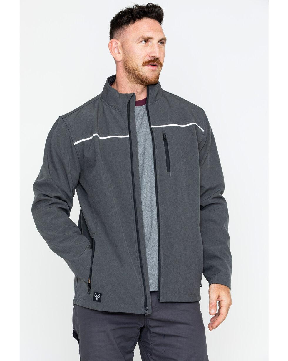 Hawx® Men's Soft-Shell Work Jacket , Charcoal, hi-res