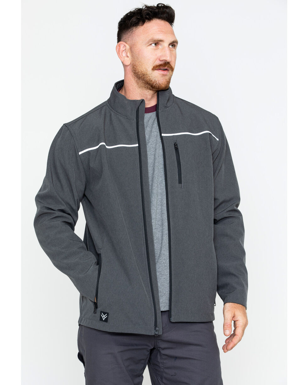 Hawx® Men's Soft-Shell Work Jacket - Big & Tall , Charcoal, hi-res