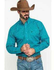 Ariat Men's Kadewater Aztec Print Long Sleeve Western Shirt - Tall, Multi, hi-res