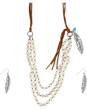 Shyanne® Women's Western Charmer Jewelry Set, Silver, hi-res