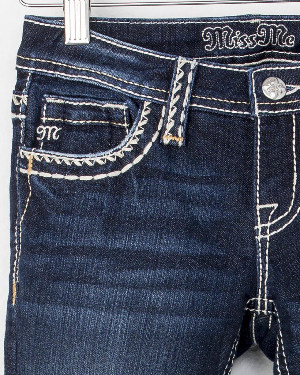 Miss Me Girls' Blue Heavy Stitch Jeans - Boot Cut , Blue, hi-res