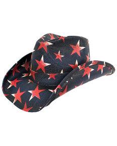 Peter Grimm Headwear O Star PGD Brand Straw Cowboy Hat , Blue, hi-res