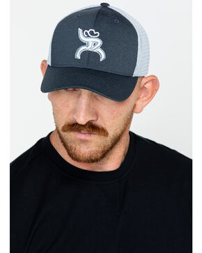 HOOey Men's Sterling Trucker Cap, Navy, hi-res