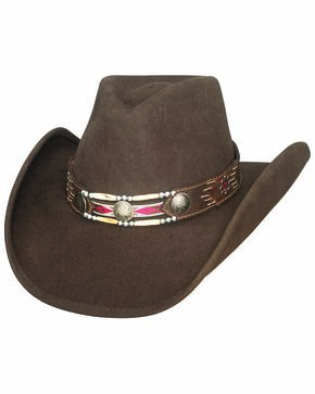 Bullhide Girls' Get Along Cowgirl Hat, Brown, hi-res