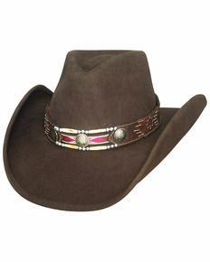 Bullhide Girls' Get Along Cowgirl Hat, Brown, hi-res