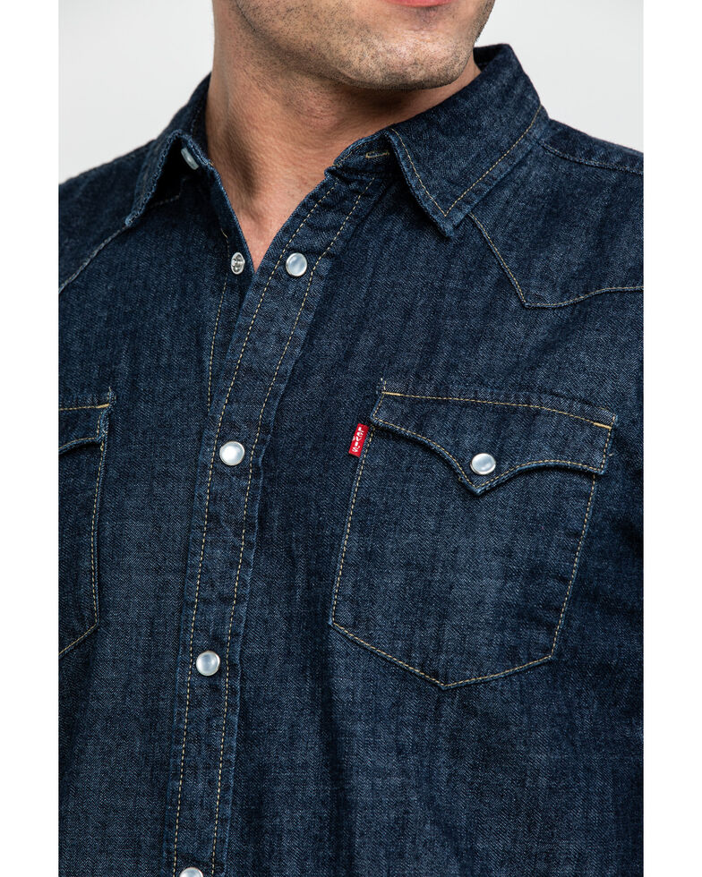 Levi's Men's Denim Long Sleeve Western Shirt, , hi-res