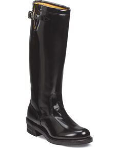 "Chippewa Men's 17"" Strapless Trooper Boots - Round Toe, Black, hi-res"