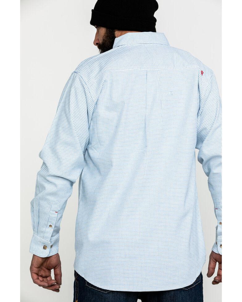 Ariat Men's White FR Solid Durastretch Long Sleeve Work Shirt - Tall , White, hi-res