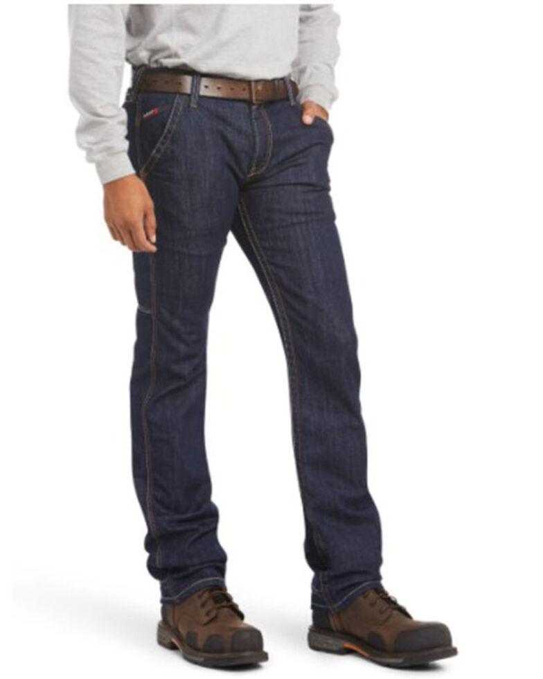 Ariat Men's FR M7 Durastretch Workhouse Slim Straight Work Jeans, Indigo, hi-res