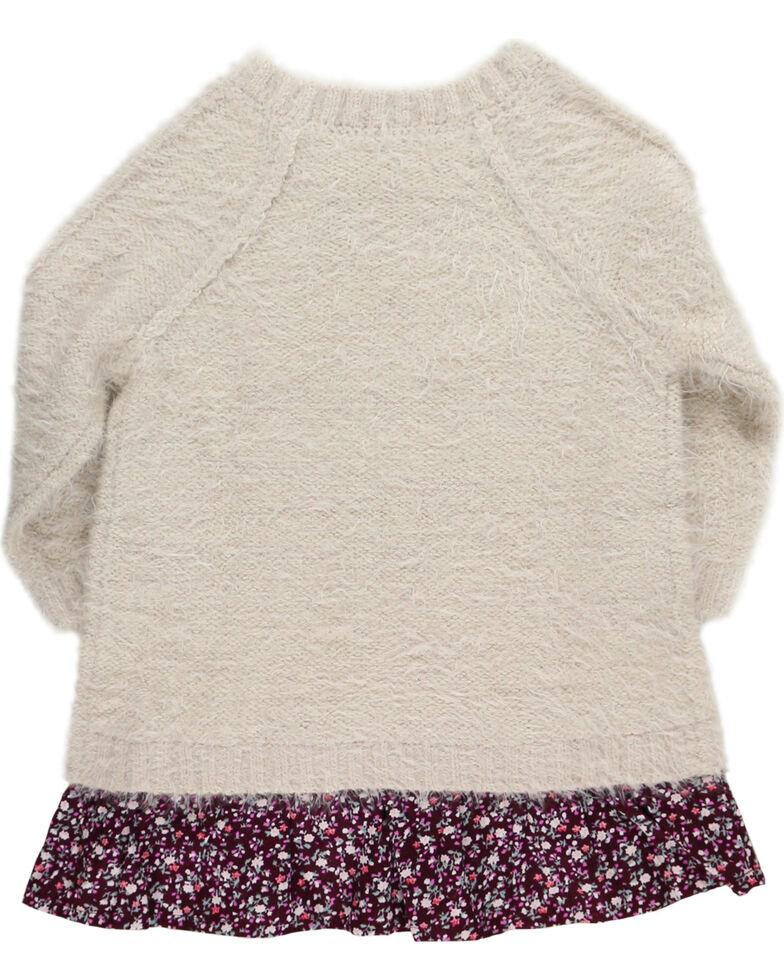 Shyanne Girls' Eyelash Sweater, Oatmeal, hi-res
