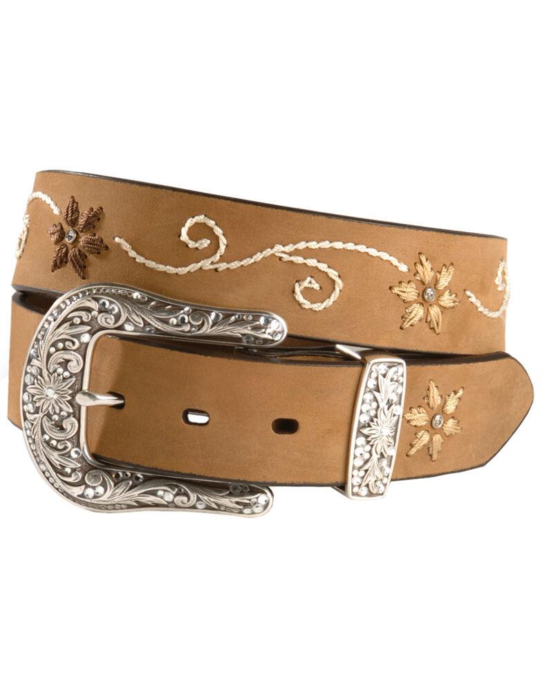 Nocona Women's Embroidered Floral Belt, , hi-res