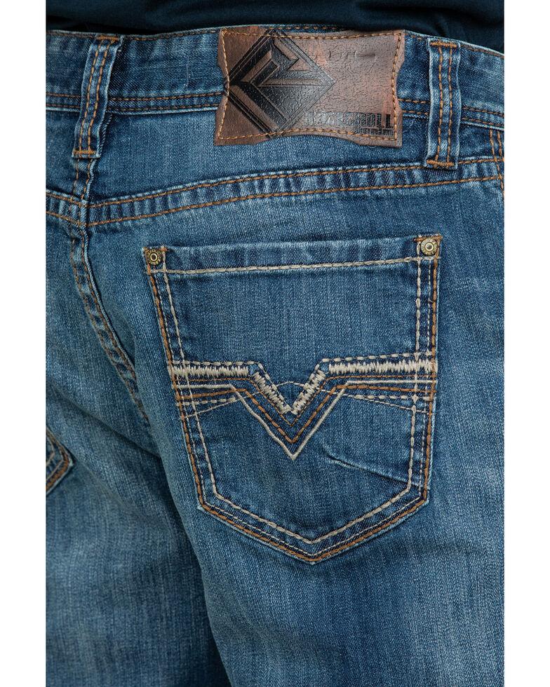 Rock & Roll Cowboy Men's Small V Reflex Double Barrel Bootcut Jeans , Blue, hi-res
