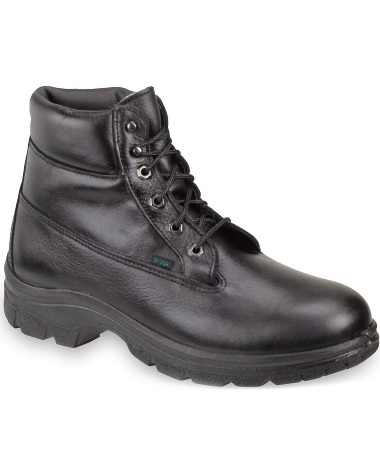"Thorogood Women's 6"" SoftStreets Postal Certified Waterproof Work Boots - Soft Toe, Black, hi-res"