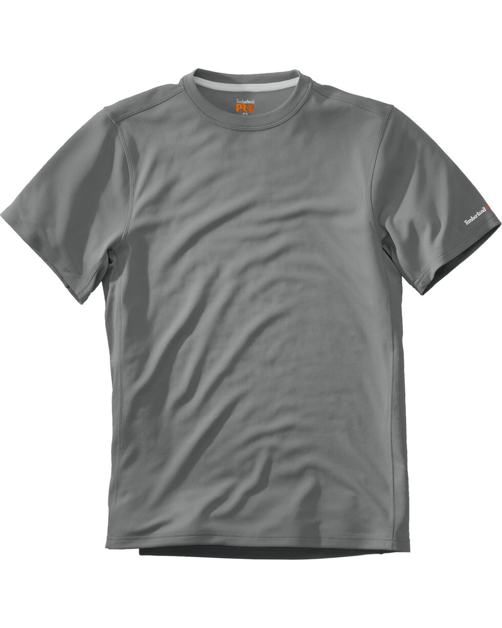 Timberland Men's Wicking Good Short Sleeve T-Shirt , Medium Grey, hi-res