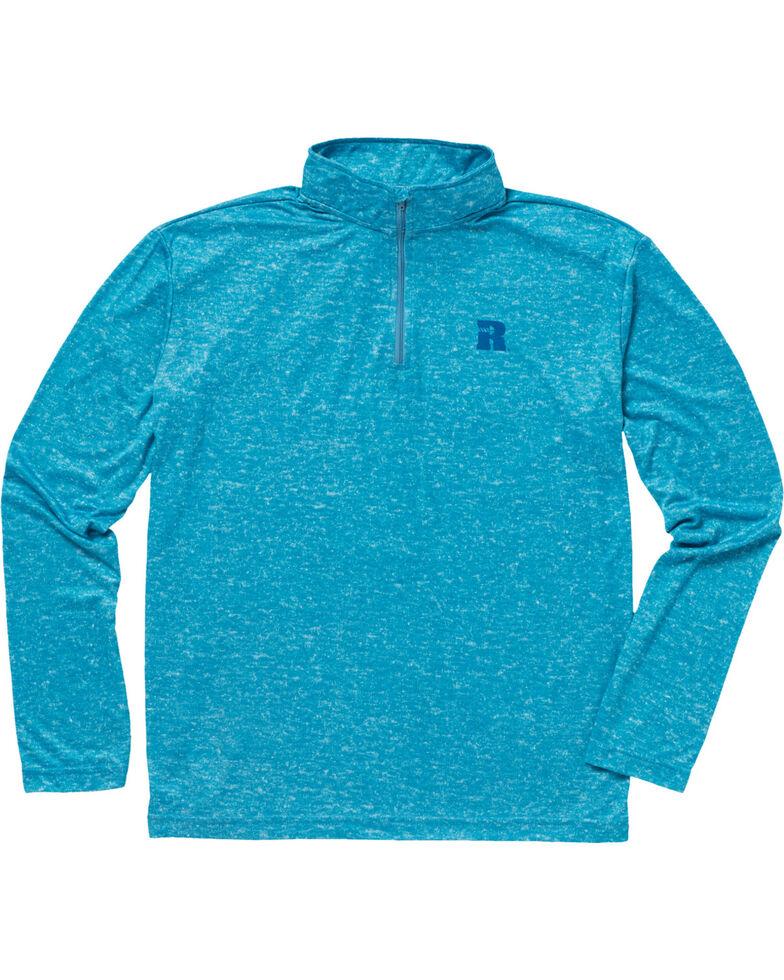 Wrangler Riggs Men's Olive Workwear 1/4 Zip Pullover Shirt - Big & Tall , Bright Blue, hi-res