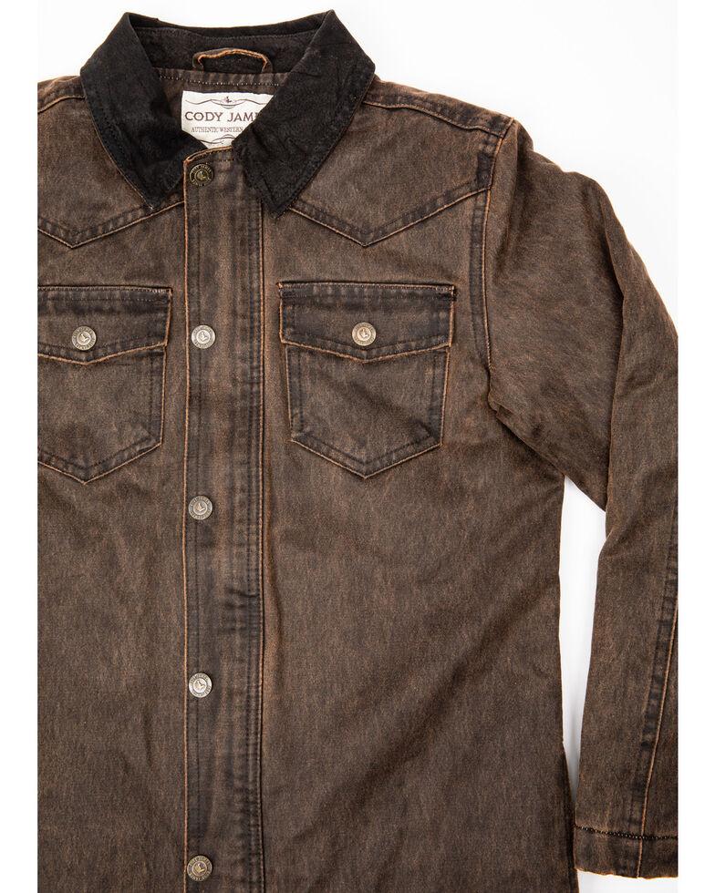Cody James Boys' Westward Oil Skin Field Coat , Brown, hi-res