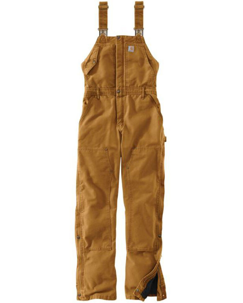 Carhartt Women's Weathered Duck Wildwood Bib Overalls , Pecan, hi-res