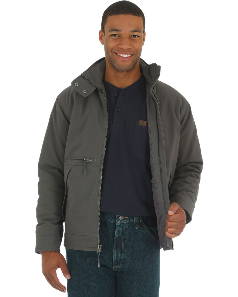 Wrangler Riggs Men's Charcoal Grey Contractor Work Jacket, Charcoal Grey, hi-res