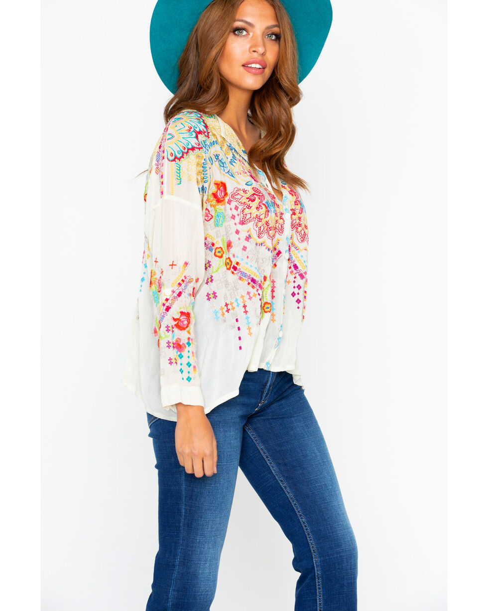Johnny Was Women's Valley Button Down Long Sleeve Top, , hi-res