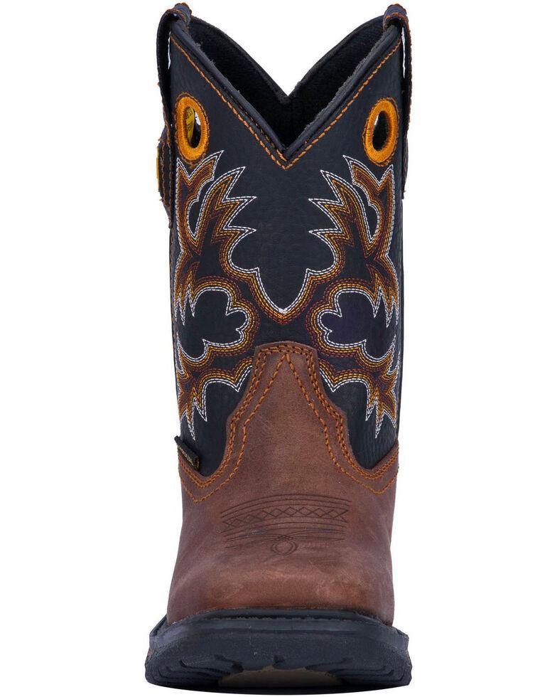 Dan Post Boys' Ridge Runner Western Boots - Wide Square Toe, Brown, hi-res