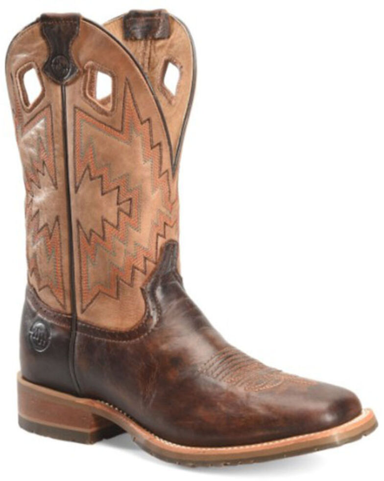 Double H Men's Winston Western Boots - Wide Square Toe, Brown, hi-res