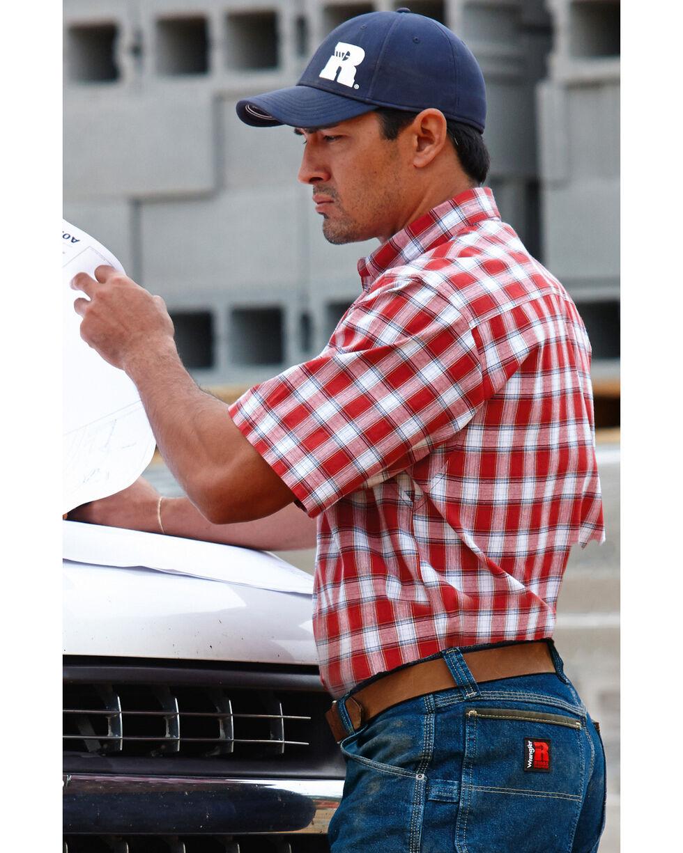 Wrangler Riggs Foreman Plaid Western Shirt, Red, hi-res