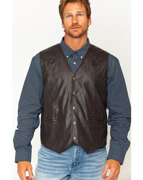 Cody James Men's Brown Deadwood Vest, Brown, hi-res
