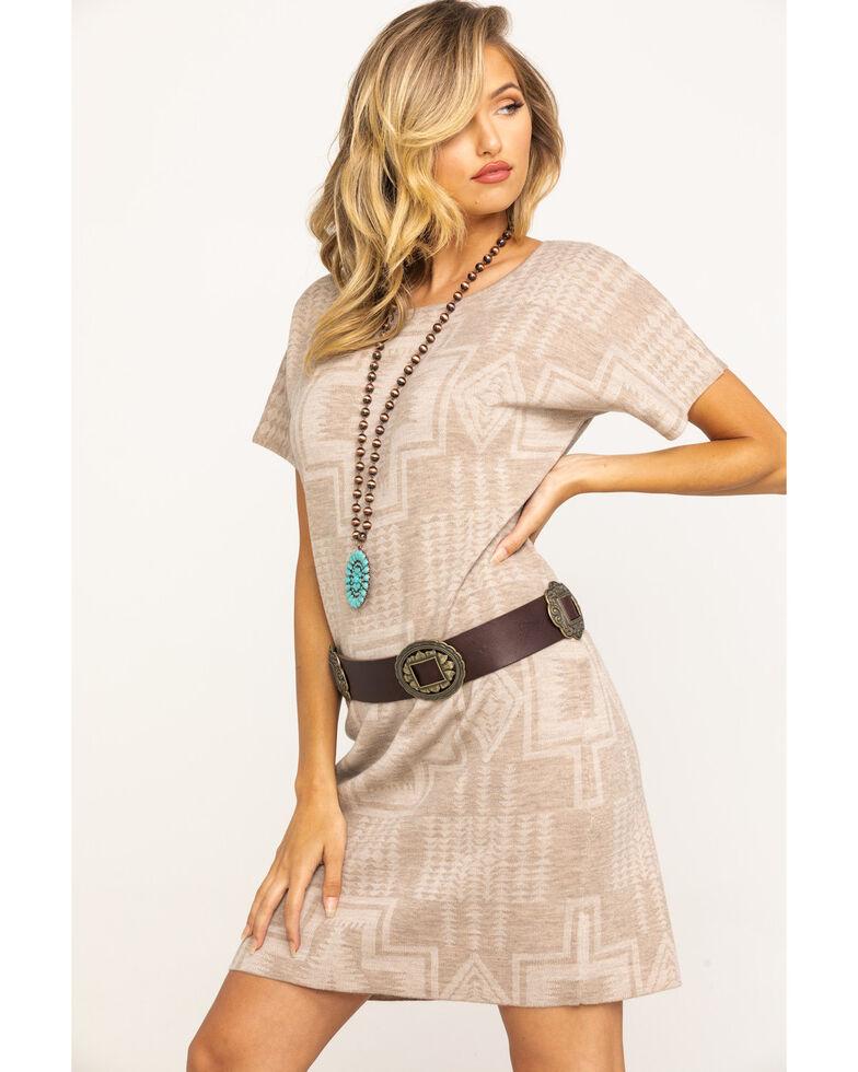 Pendleton Women's Harding Sweater Dress, Taupe, hi-res