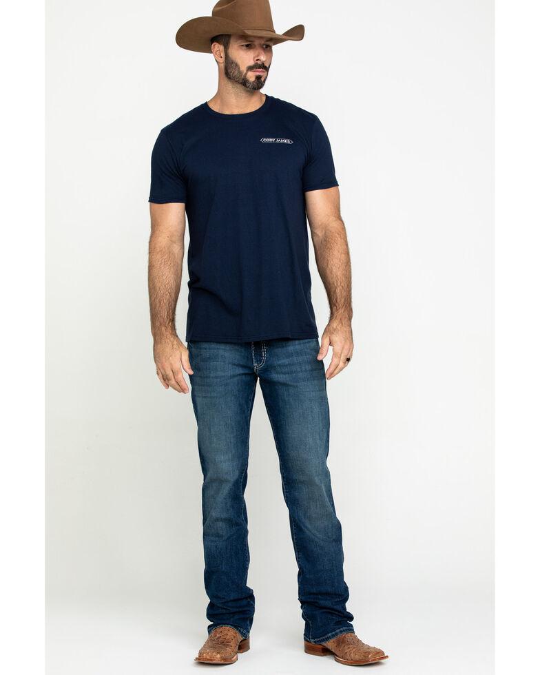 Rock 47 By Wrangler Men's Soundtrack Stretch Slim Boot Jeans , Blue, hi-res