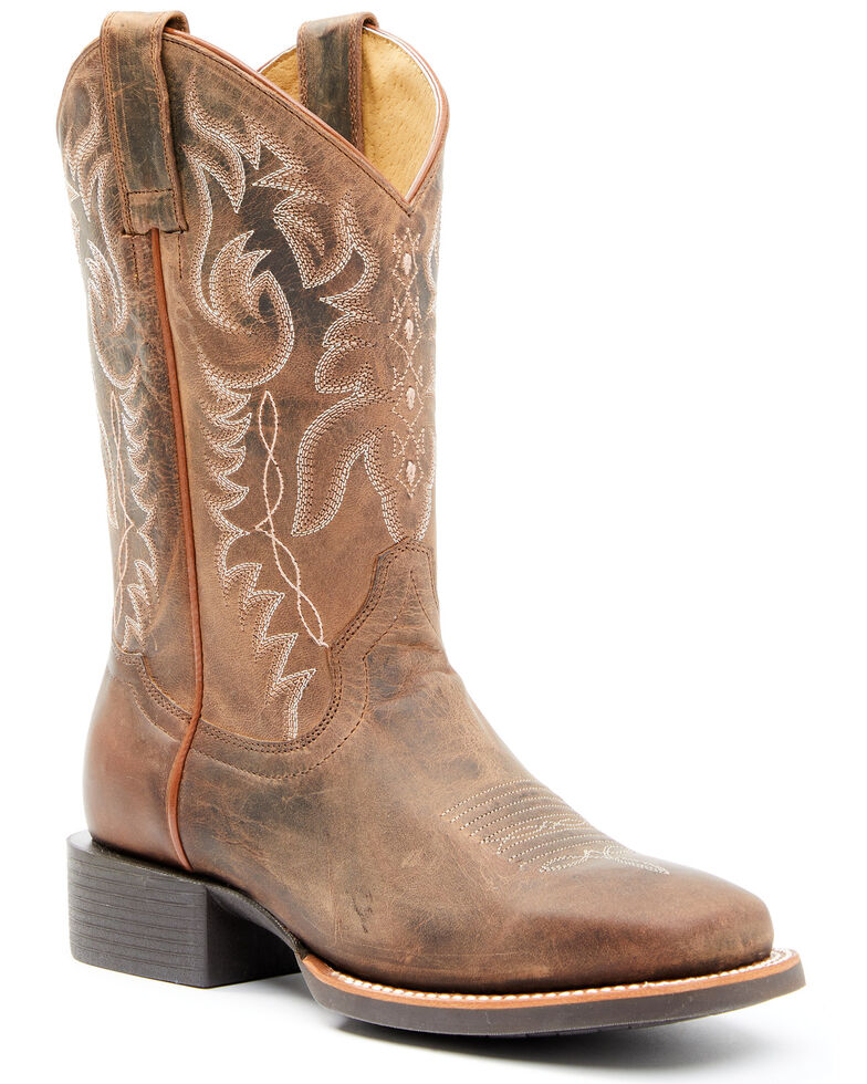 Shyanne Women's brown Western Boots - Square Toe, Brown, hi-res