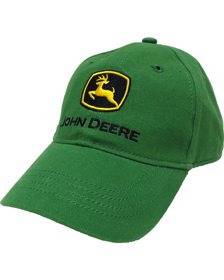 John Deere Youth Boys' Trademark Green Baseball Cap, Green, hi-res