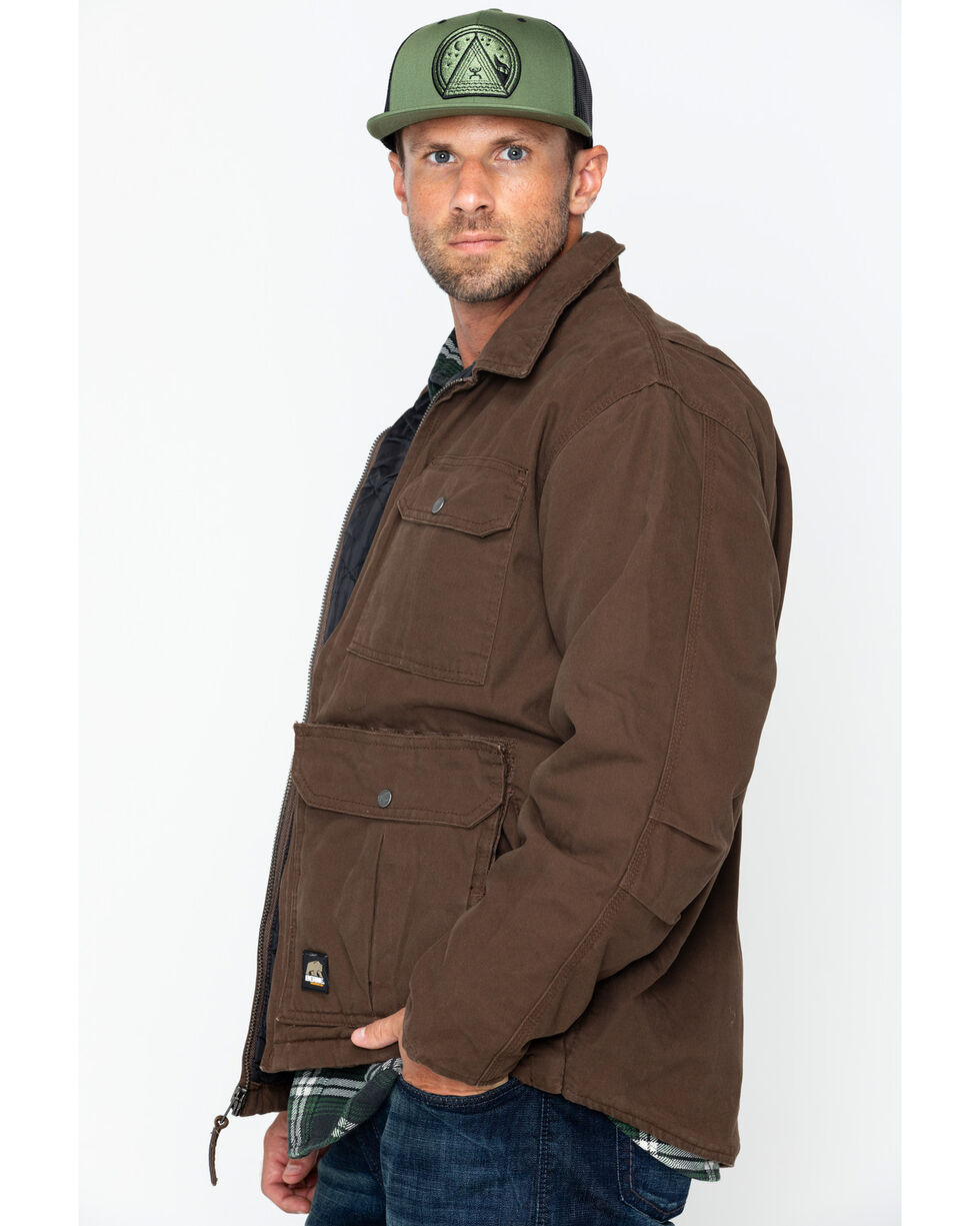 Berne Men's Lightweight Echo Zero One Work Jacket , Bark, hi-res