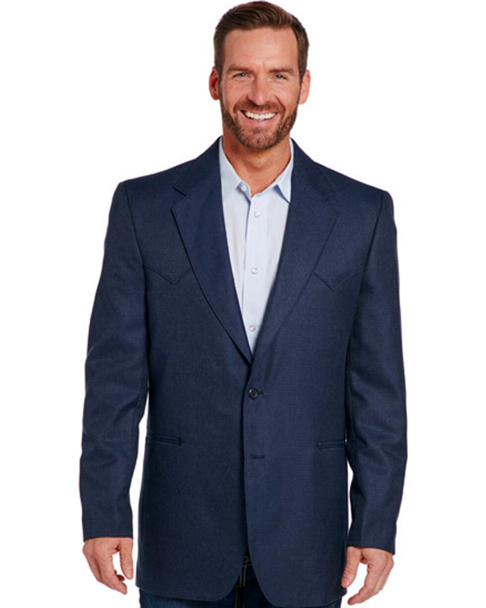Circle S Men's Navy Carson City Sport Coat - Tall, Navy, hi-res