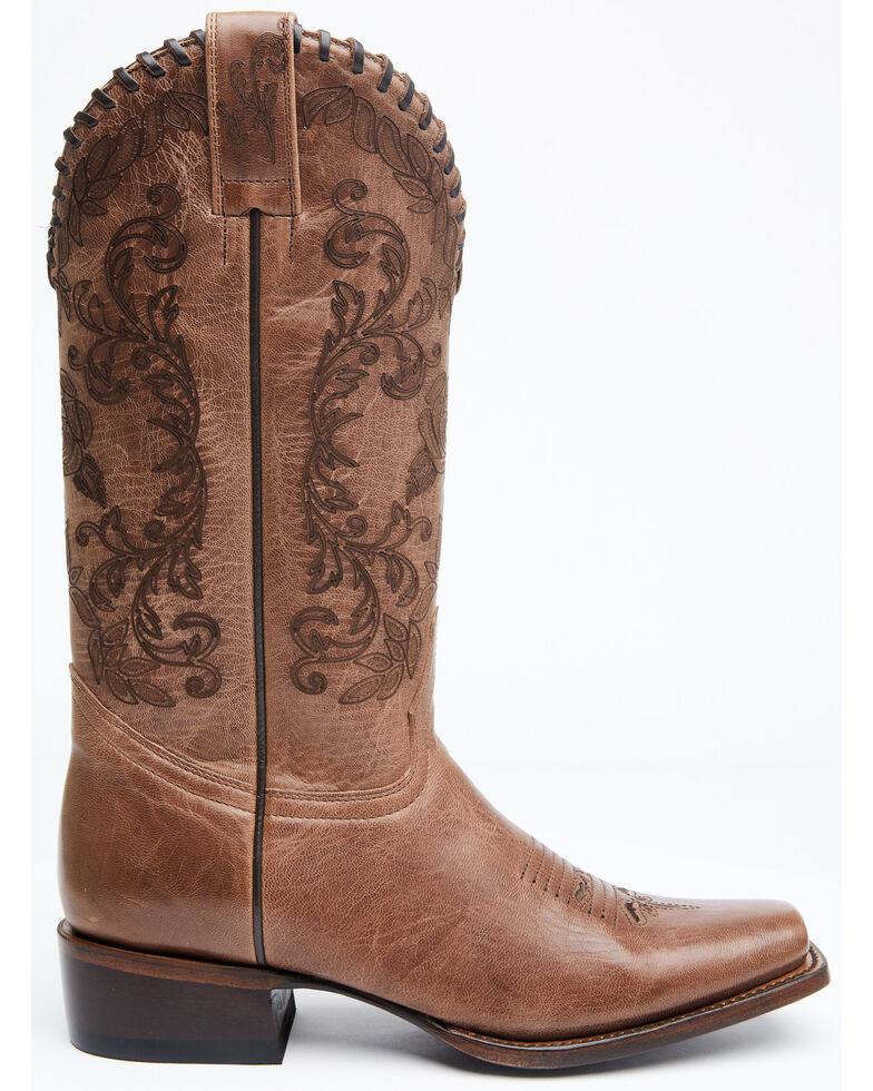 Shyanne Women's Fantasia Western Boots - Square Toe, Brown, hi-res