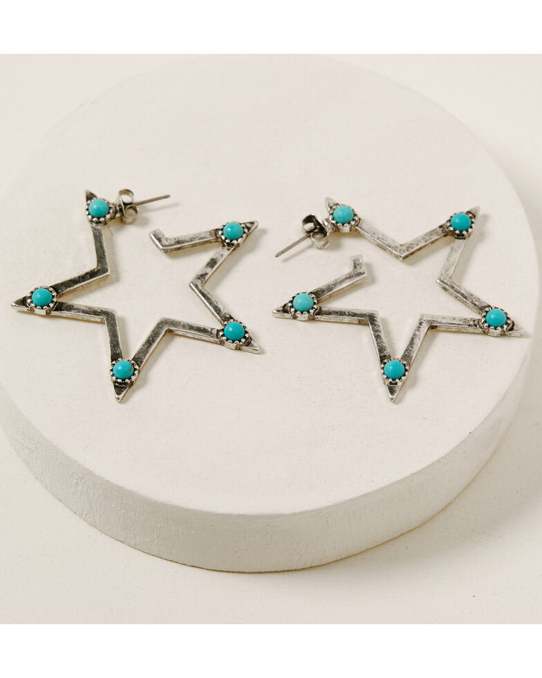 Idyllwind Women's Wish Upon A Star Earrings, Silver, hi-res