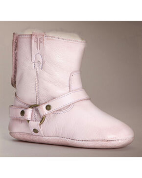 Frye Infant Girls' Velcro Harness Bootie Shearling, Pink, hi-res