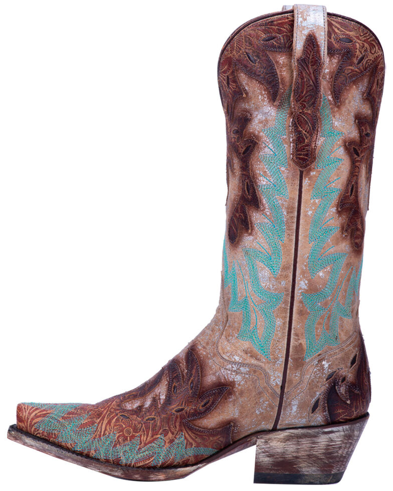 Dan Post Women's All Eyes On Me Metallic Western Boots - Snip Toe, Brown, hi-res