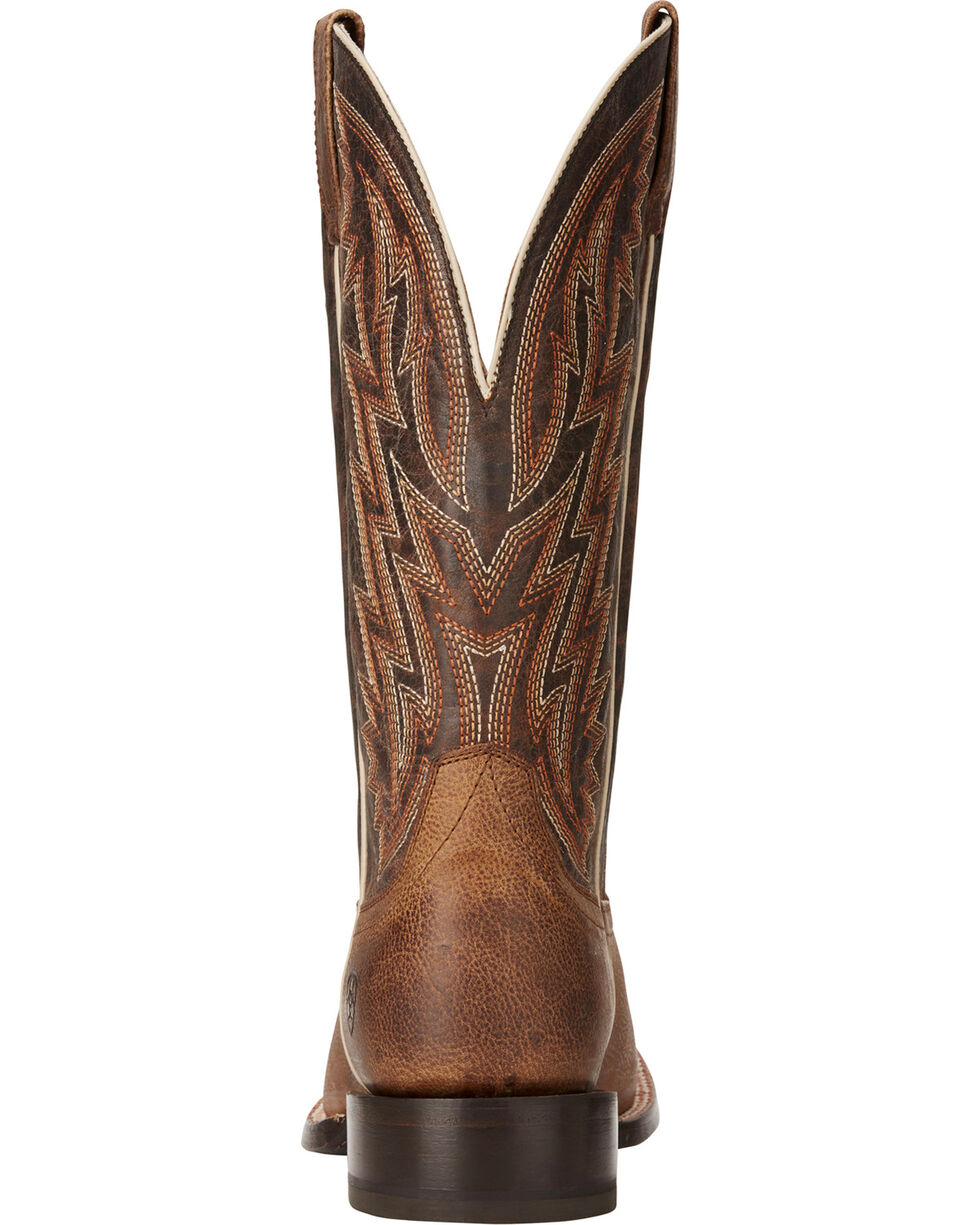 Ariat Men's Ranchero Rebound Brown Cowboy Boots - Square Toe, , hi-res