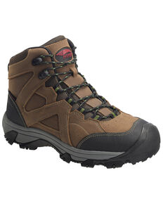Avenger Men's Crosscut Waterproof Work Boots - Steel Toe, Brown, hi-res