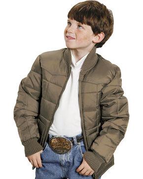 Roper Boys' Range Gear Quilted Nylon Jacket, Khaki, hi-res