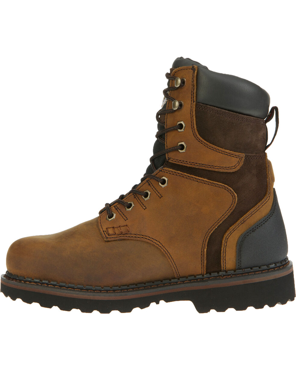 Georgia Men's Waterproof Brookville Work Boots, Dark Brown, hi-res