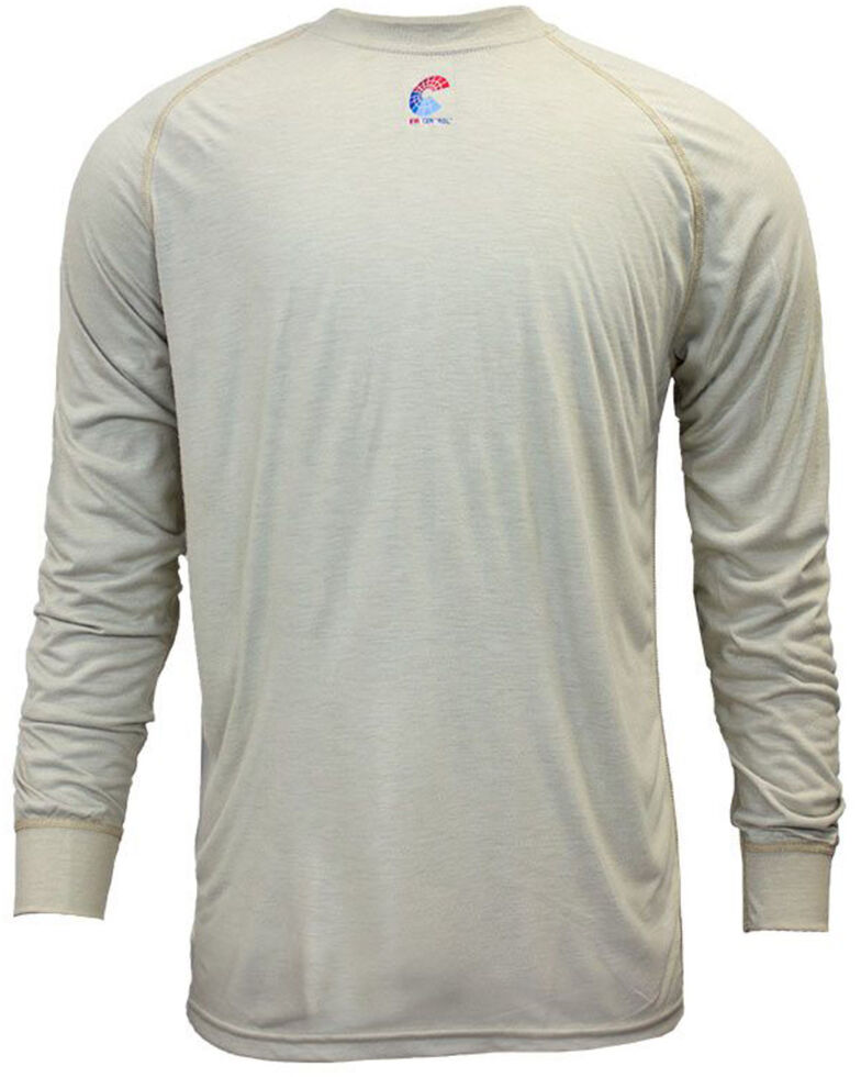 National Safety Apparel Men's 2X-3X Khaki FR Control Long Sleeve Work T-Shirt - Tall , Beige/khaki, hi-res