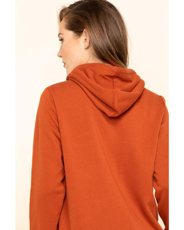Wrangler Women's Rust Logo Hoodie Sweatshirt, , hi-res